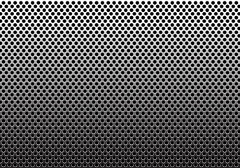 Metal circle mesh pattern gradient background texture vector illustration.