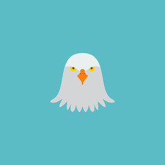 Icon flat eagle head element. Vector illustration of icon flat bird isolated on clean background. Can be used as eagle, bird and head symbols.