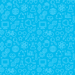 Seamless science pattern
