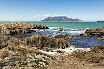 Cape Town seen from Bloubergstrand