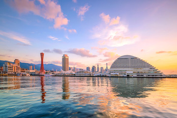 Fotomurales - Skyline and Port of Kobe in Japan