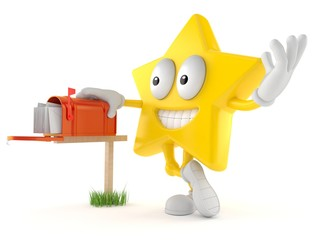 Star character with mailbox