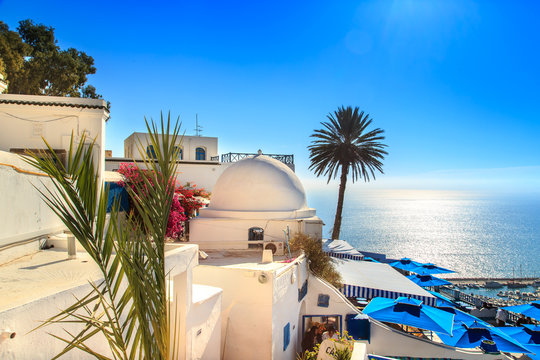 The famous cafe in Sidi Bou Said.
