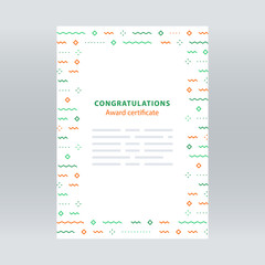 Festive border, confetti background, vector pattern, minimalist decoration, invitation