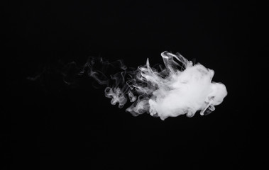 Photo of smoke of electronic cigarette