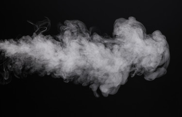 Image white isolated smoke of cigarette