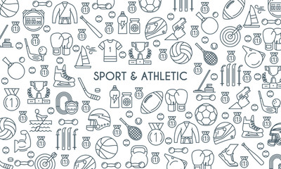 sports and athletics line banner