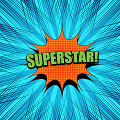 Comic Superstar wording template