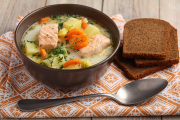 Finnish fish soup kalakeitto
