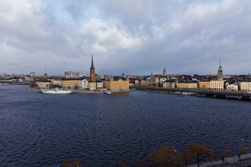 Cityscape of the historic center of Stockholm, Sweden