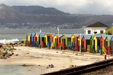 Bath Cabins in Simons Town near Cape Town
