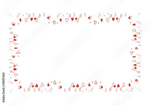 Cornice Cuori Biglietto Letterina Stock Image And Royalty Free