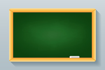 Green school blackboard isolated on background. Vector illustration.
