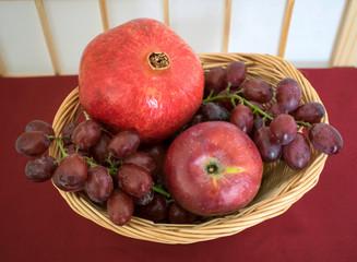 Fruit Basket with One Pomegranate