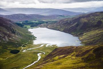Loch Lee, Angus, Scotland, United Kingdom. August 2017. Beautiful landscape.