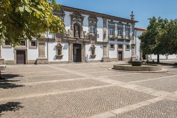 Square and Camara Municipal de Guimaraes in the Historic Centre of Guimaraes in Portugal.