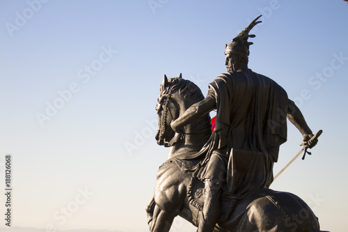 In This Photo Is The Statue Of Albania National Hero Gjergj Kastriot