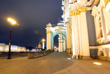 Hermitage on Palace Square in St.Petersburg.