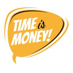 time is money retro speech bubble
