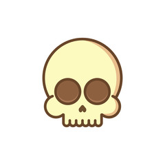 Skull, cartoon style. Vector.