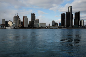 A general view of the Detroit skyline is seen from Windsor, Onatario, Canada