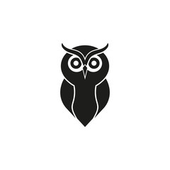 Wall Murals Owls cartoon Owl logo. Vector. Isolated.