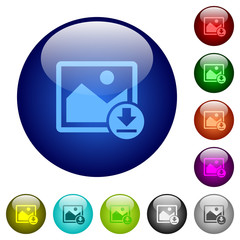 Download image color glass buttons