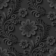 Elegancki 3d bezszwowy kwiecisty wzór. Ilustracja wektorowa