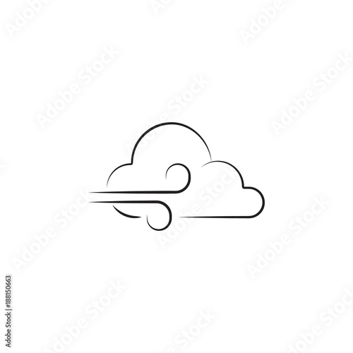 Wind Sign Icon Elements Of Weather Signs Icon Premium Quality