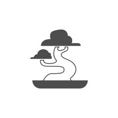 Bonsai icon. Elements of Chinese culture icon. Premium quality graphic design icon. Baby Signs, outline symbols collection icon for websites, web design, mobile app