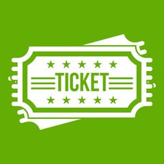Ticket icon green