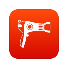 Hairdryer icon digital red