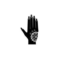 mehendi icon. Elements of Indian Culture icon. Premium quality graphic design. Signs, outline symbols collection icon for websites, web design, mobile app, info graphic
