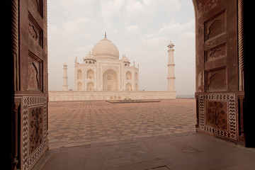 Taj Mahal door view India