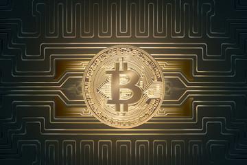 Golden Bitcoin virtual money