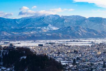 福井県の天空の城越前大野城
