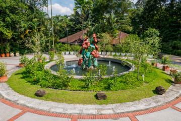 Springbrunnen im Botanischen Garten Kuala Lumpur