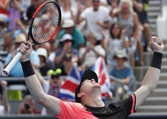 Tennis - Australian Open - Kevin Anderson of South Africa v Kyle Edmund of Britain - Melbourne, Australia