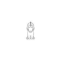 Unicorn cartoon icon