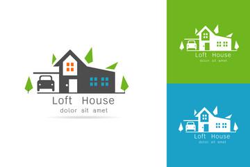 loft house logo vector