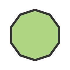 Geometric, decagon, design