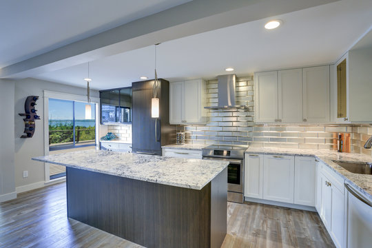 Modern kitchen room in a condo home