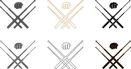Telescopic batons self defence training logotype