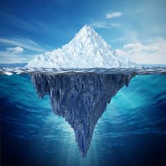 Realistyczna 3D ilustracja góra lodowa. 3D ilustracji