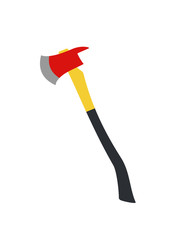 Fire axe. Flat illustration.