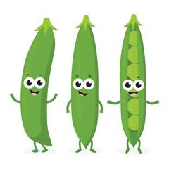 three funny peas