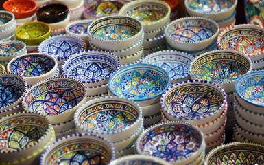 Souvenirs in the oriental markets