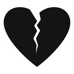 Broken heart icon. Simple illustration of broken heart vector icon for web.