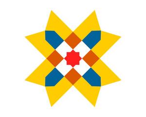 square pattern ornament image icon vector
