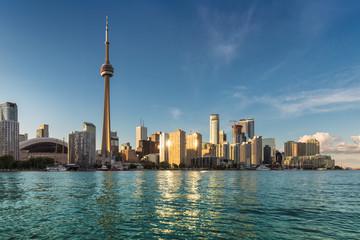 Wall Murals Toronto Toronto city skyline at sunset, Toronto, Ontario, Canada.